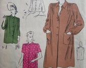 Fabulous Vintage 40's ARTIST EDGE SMART  Misses Vogue Smock Pattern Factory Folded