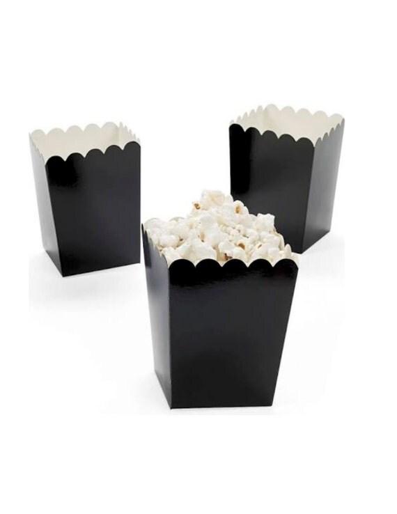 Black Treat Favor Boxes : Black popcorn boxes ct treat favor by
