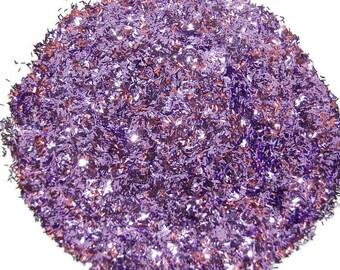 Lavender SOLVENT RESISTANT Glitter BARS 0.062 x 0.0125 - 1 Fl. Ounce for Glitter Nail Art , Glitter Nail Polish and Glitter Crafts
