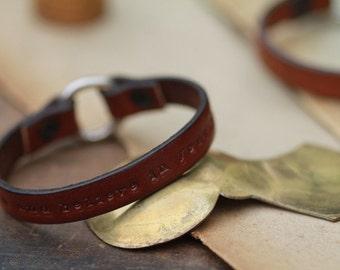Brown Urban Ranch Loop Bracelet