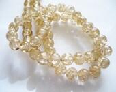 Crackle Glass Beads  Darker Golden Wheat 8MM