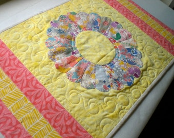 Quilted Summer and Christmas Holly Table Runner Quilt