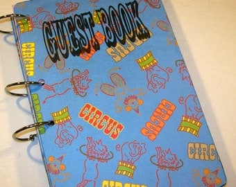 Circus Party, Guest Book,  Carnival Party, Guest Book, Big Top Birthday, 1st Birthday, Baby Shower Memory Book, First Birthday