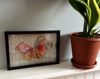 Mounted Origami Butterfly, 4x6