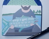 A Great Catch - Valentines Card, Boy Met Boy, Gay, Same Love Card
