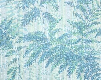 Retro Wallpaper by the Yard 70s Vintage Wallpaper - 1970s Blue Ferns