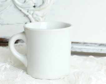 White Ironstone Mug Resturant Ware Coffee Cup Shenango China Cup Vintage Farmhouse