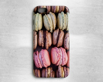 Macarons Phone Case Gift for Foodies - Available for iPhone 7, iPhone 7 Plus, iPhone 6S, iPhone 6, iPhone 5s, iPhone 5c, iPhone 5, iPhone 4s