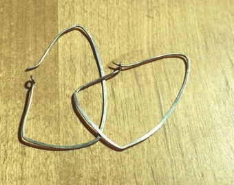 Lazy triangle earrings in sterling silver minimal modern geometric simple elegant everyday