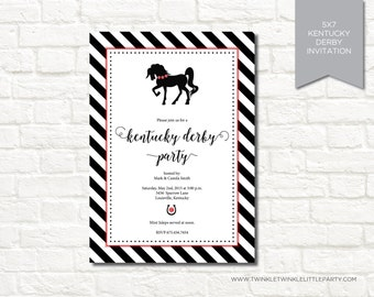 Modern Kentucky Derby Digital Party Invitation
