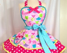 Sparkling Pink Happy Hour PInUp Apron