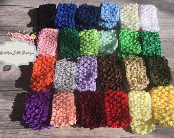 Crochet Headband 1 1/2 inch ,for Newborn Infant, Baby or Toddler Youth, Adult