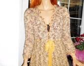 jacket handmade cardigan in honey yellow romantic asymmetrical sweater gift idea luxurious women clothing ready to ship by goldenyarn