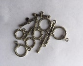 Silver Colored Toggle Clasps 6  Clasps