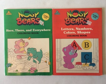 Vintage Nosey Bears Unused Coloring Books