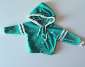 Vintage Carters Terry Dolphin Hoodie (12/18 months)