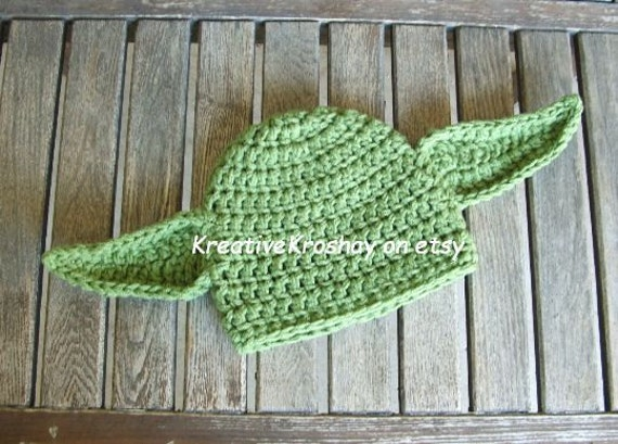 "Chunky Yoda ""Star Wars Inspired"" Hat / Beanie - for Star Wars Fans / Geeks :)  (Teen - Adult)"
