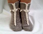 Handknit socks,Knitted Wool Socks,Knitted slippers socks,socks for home,socks for sleep,Knitted Wool Slippers