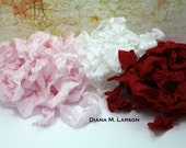 Valentine's day -Sweet Love, Pure love, Red Hot Love--15 yards Crinkle Ribbon - Mocha and Espresso