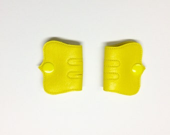 Cord Keeper, Iphone cord, Ear bud cord, Cord organizer, Yellow snaps, Yellow Vinyl cord keeper, Snap cord keeper, Cable organizers