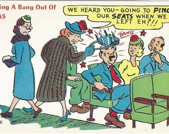 Getting a Bang out of Texas Funny Vintage Postcard
