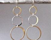 Triple Circle Earrings - Circle Earrings - Eternity Earrings