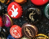 Beer Bottle Cap Magnets - Set of 6  - Colorful Bar Decorations - Gifts for Guys or Girls