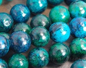 8mm Chrysocolla Round Beads  -15.5 strand
