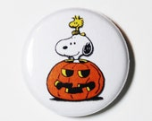Halloween Snoopy, 1 inch Button - Pin or Magnet