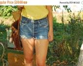 SALE Cut Off LEVIS Denim Shorts Vintage 80S