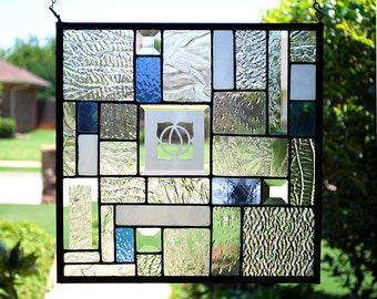 Nature's Patchwork - Stained Glass Panel