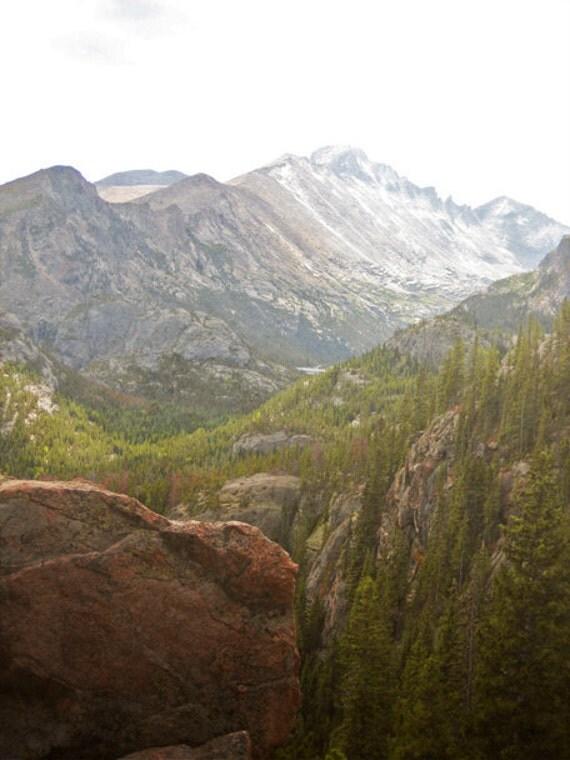Mountain Photography Print Fine Art Colorado Rocky Mountains Longs Peak Forest Wilderness Autumn Landscape Photography Print.