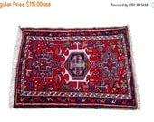 HAPPY SUMMER 10% OFF Discounted 2x3 Vintage Persian Karaja Mat