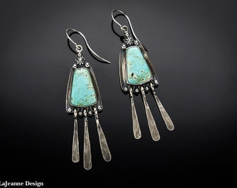 Rodeo - Turquoise Sterling Silver Earrings