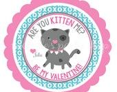 PRINTABLE Kitty Valentine Favor Tags