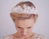 Wedding tiara, Bridal lace crown, Bridal headpiece, Hair accessories, Bridal wreath