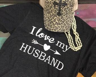 I LOVE MY HUSBAND soft style shirt