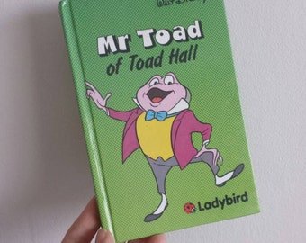 Mr Toad Notebook handmade from a Disney ladybird book Wind in the Willows