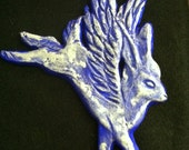 Animal Angels: Rabbit (Choose finish - copper/gold/silver - brown/purple/sienna/turquoise)