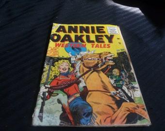 Annie Oakley Western Tales Comic, Atlas, August, 1955