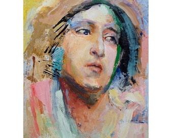 Head54, figure painting, original painting ,11 x 14, oil on canvas