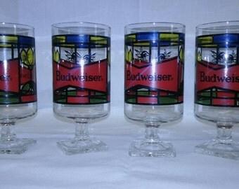 1970's Budweiser bar glasses