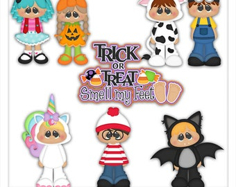 Trick or Treat Smell My Feet 1 Clipart (Digital Download)