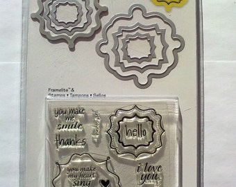 Sizzix Framelits Die Set 16 Piece Pkg w/Stamps - LABELS, FANCY #2