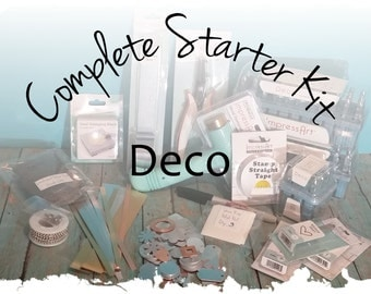 Deco: Complete Starter Kit for Bracelet Making, Hand Stamped Jewelry Making DIY Stamp Kit, Metal Alphabet Set & Hammer, Hole Punch, Block