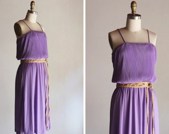 1970s Lilac Disco Dress