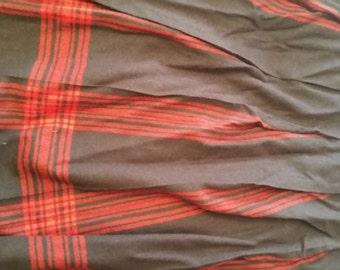 Pendleton plaid  navy wool vintage skirt size 14