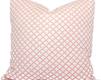 Quadrille Pink Terrace Pillow Cover Square or Lumbar pillow, Toss Accent Pillow, Throw Pillow,  China Seas
