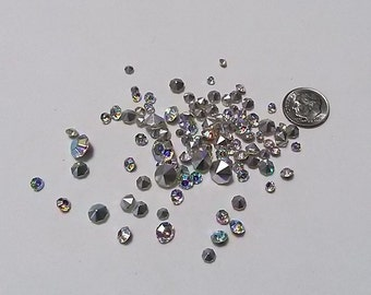 Lot of 150 Vintage Loose AB Rhinestones