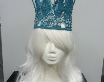 Turquoise Lace Crown